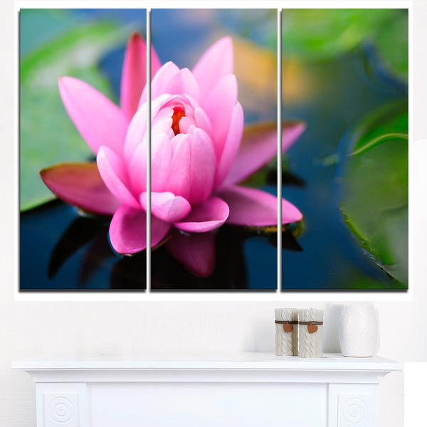 Shop large lotus flower in the pond large floral canvas art print large lotus flower in the pond large floral canvas art print blue mightylinksfo