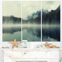 Lake Herbert in Foggy Morning - Modern Seascape Canvas Artwork