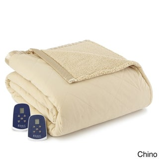 Quilted Micro Flannel and Sherpa 6-layer Heated Electric Blanket (More options available)