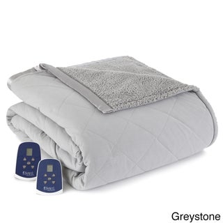 Quilted Micro Flannel and Sherpa 6-layer Heated Electric Blanket (4 options available)
