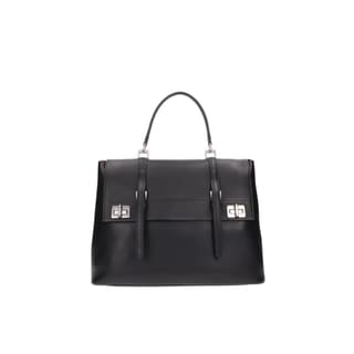 Prada Black Saffiano Leather BN2790 Satchel (As Is Item)