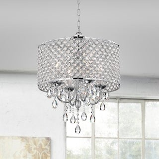 Diana Chrome-finish 4-light Drum Chandelier