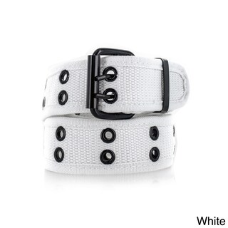 Faddism Unisex Genuine Leather Belt (Option: White-L: 48-50 inches)