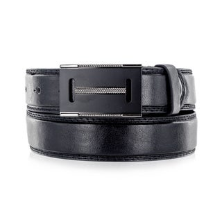 Faddism Men's Black Genuine Leather Belt