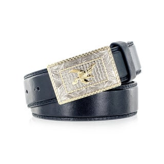 Faddism Men's Genuine Leather American Eagle Belt