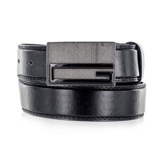 Faddism Men's 'G' Emblem Genuine Leather Belt