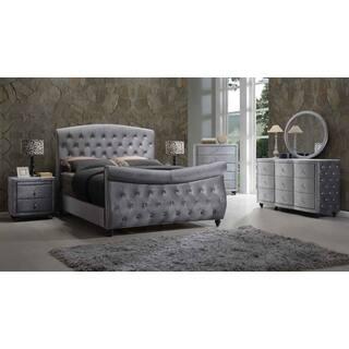 Meridian Hudson Grey Velvet 5-piece Sleigh Bedroom Set|https://ak1.ostkcdn.com/images/products/12236926/P19080651.jpg?impolicy=medium