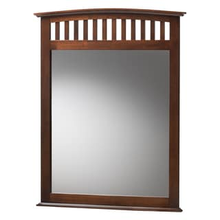 Baxton Studio Metropolitan Modern Brown Wood Mirror