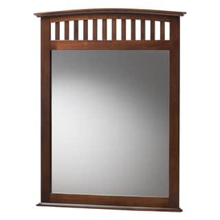 Baxton Studio Metropolitan Modern Brown Wood Mirror