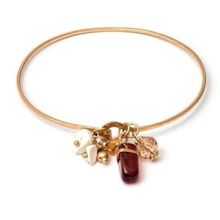 18k Gold-plated Brass Charm Bracelet