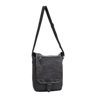 Preferred Nation Tahoe Grey Canvas Sling Messenger Bag