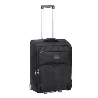 Goodhope Black Ballistic Nylon 25-inch Foldable Rolling Upright Suitcase