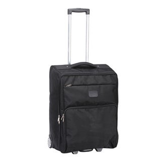 Goodhope Black Ballistic Nylon 25-inch Foldable Rolling Upright Suitcase