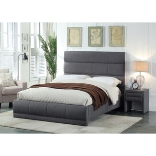 Meridian Cooper Grey Linen 2-piece Bedroom Set