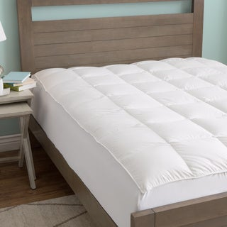 European Heritage Luxury Hypoallergenic White Goose Down Mattress Pad/Topper Queen Size (As Is Item)