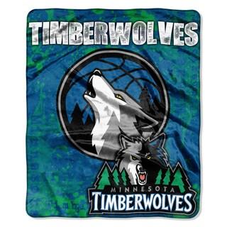 NBA 670 Timberwolves Dropdown Raschel Throw