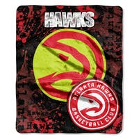 NBA 670 Hawks Dropdown Raschel Throw