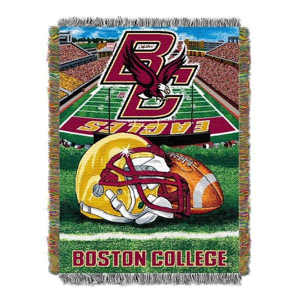 COL 051 Boston College 'Home Field Advantage' Woven Tapestry Throw