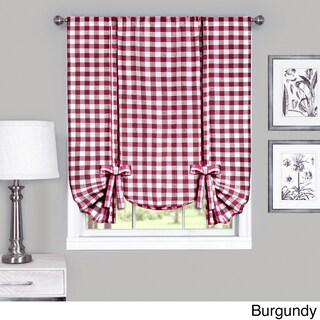 Achim Cotton Blend 63-inch Long Buffalo-check Window Tie-Up Shade - 42 x 63 (More options available)