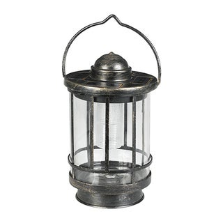 Duracell Solar Glass/Metal Powered Outdoor LED Tabletop Lantern