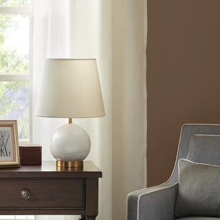 Madison Park Signature Linden White Table Lamp