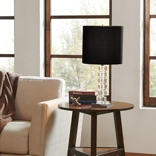 Madison Park Signature Paxton Clear/Black Table Lamp