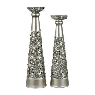 D'Lusso Designs Jaden Design Polyresin Hurricane Candlestick (Set of 2)