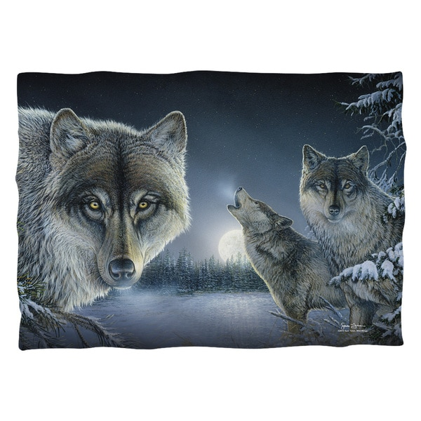Wild Wings/Midnight Wolves 2 Polyester 20x28 Pillowcase