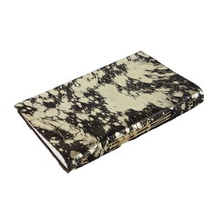 Metallic Hide Journal, Black/Gold