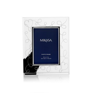 Mikasa Love Story Metal/Glass 5-inch x 7-inch Frame