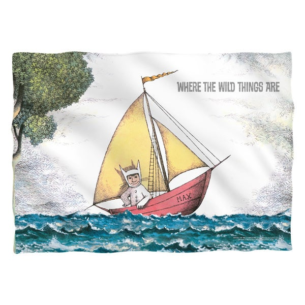 Where The Wild Things Are/Max's Boat Polyester 20x28 Pillowcase