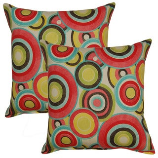 Roll Play Blossom 17in Throw Pillows (Set of 2)