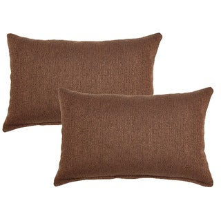 Grandstand Chocolate 12in Throw Pillows (Set of 2)