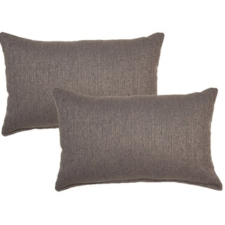 Grandstand Grey 12in Throw Pillows (Set of 2)