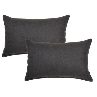 Grandstand Black 12in Throw Pillows (Set of 2)