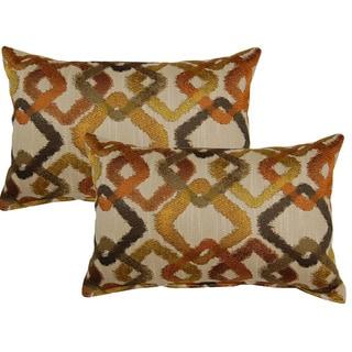 Kala Tangerine 12in Throw Pillows (Set of 2)