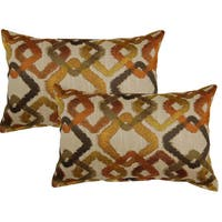 Kala Tangerine 12in Throw Pillows (Set of 2)