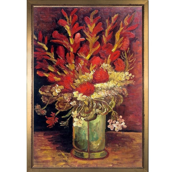 Shop Vincent Van Gogh Vase With Carnations And Other Flowers Hand