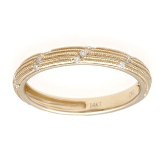 14k Gold Diamond Accent Stackable Band (Size 7)