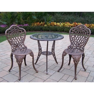 Oakland Living Explorer Cast Aluminum 3-piece Outdoor Bistro Set