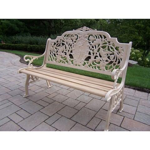 Oakland Living Corporation Aluminum/Wrought Iron/Hardwood Golfer Bench