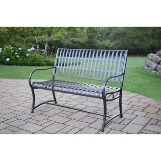 Oakland Living Aluminum/ Wrought Iron Imperial Bench