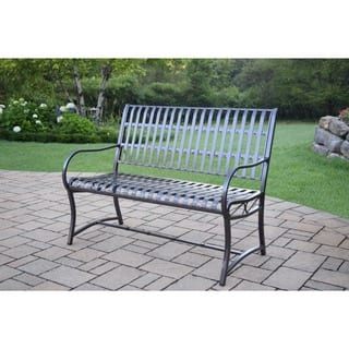 Oakland Living Aluminum Wrought Iron Imperial Bench
