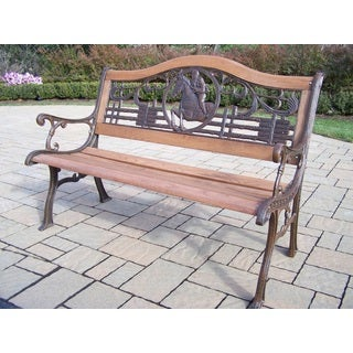 Oakland Living Corporation Equestrian Horse Bench
