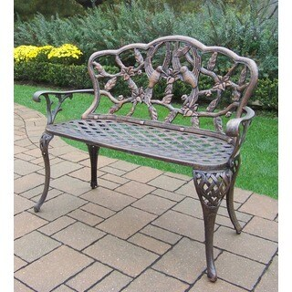 Grace Cast Aluminum Loveseat Bench