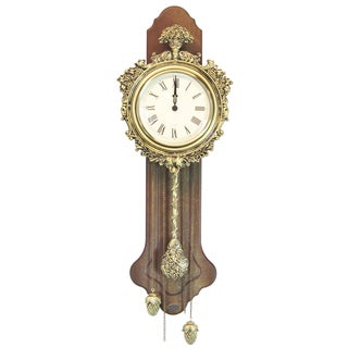 Elegant Wood Acorn Pendulum Wall Clock