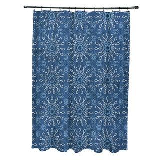71 x 74-inch Sun Tile Geometric Print Shower Curtain