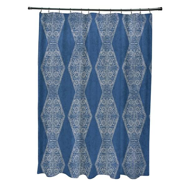 71 x 74-inch Pyramid Stripe Geometric Print Shower Curtain