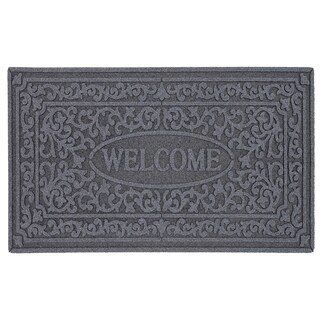Mohawk Home St. Croix Gray Door Mat (1'6 x 2'6)