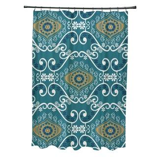 71 x 74-inch Illuminate Geometric Print Shower Curtain